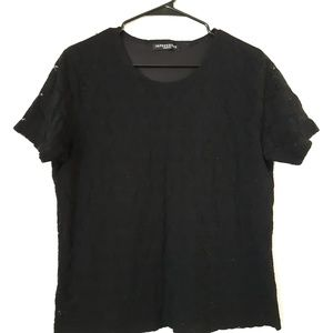 Tops - Black short sleeve Lace tee